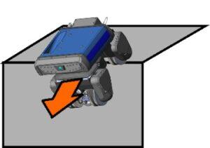 BIKE crossing over a convex corner (edge)