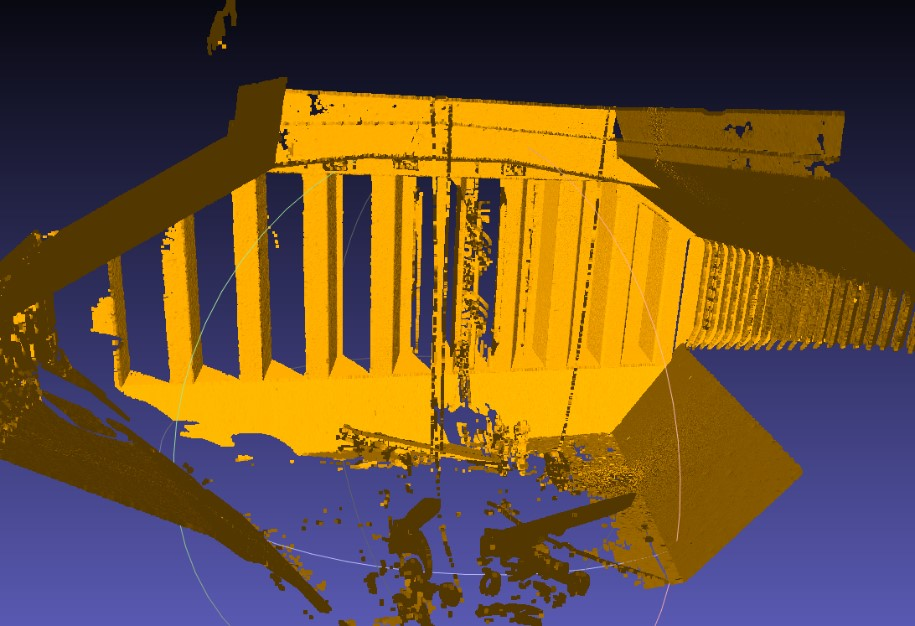 3D LIDAR pointcloud from a single scanner location