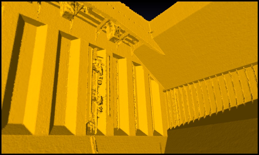 Result from automated point-cloud registration and meshing: High-Resolution mesh for visualization to the operator.